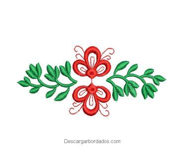 Diseños de bordado de flores de colores