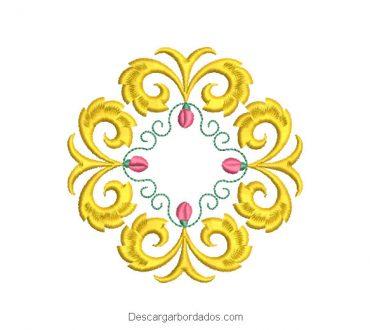 Diseño Bordado Corona Ornamental
