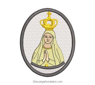 Diseño Bordado Cuadro de Virgen María Rezando