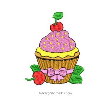 Diseño Bordado Cupcake