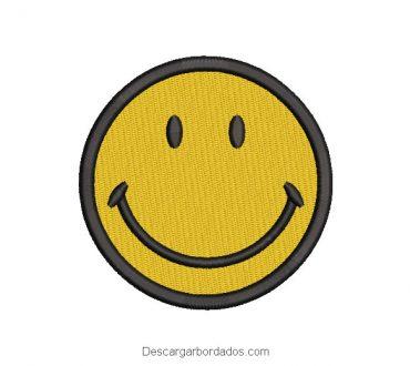 Diseño Bordado Emoji Feliz