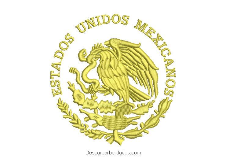 Diseño Bordado Escudo Mexico Aguila