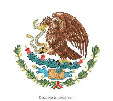 Diseño Bordado Escudo Nacional de México