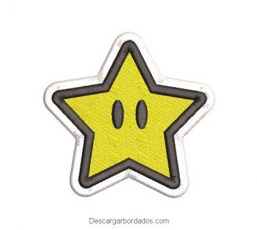 Diseño Bordado Estrella de Super Mario