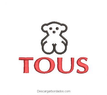 Diseño Bordado Logo Tous con Letra