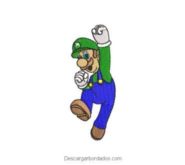 Diseño Bordado Luigi de Super Mario Bros