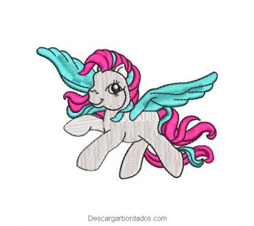 Diseño Bordado My Little Pony Volando