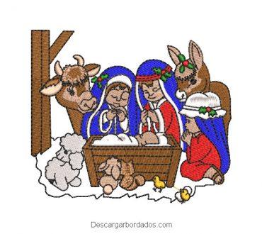 Diseño Bordado Nacimiento de Jesús en Belén