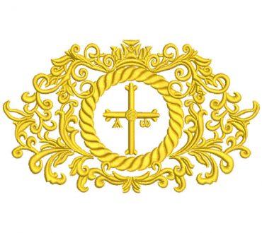 Bordado Ornamental Cruz y la Corona