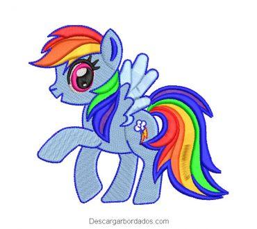 Bordado Rainbow Dash de My Little Pony