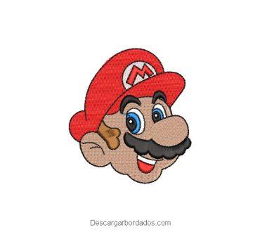 Diseño Bordado Rostro de Mario Bros