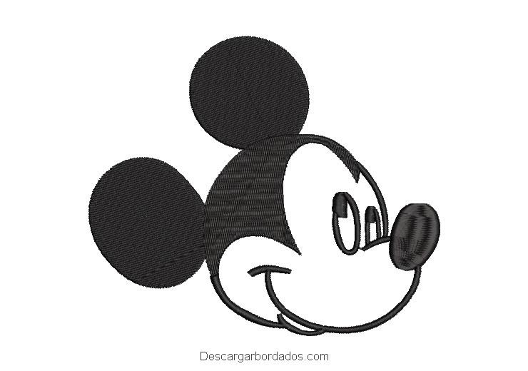 Diseño Bordado Rostro de Mickey Mouse Guiñando un Ojo