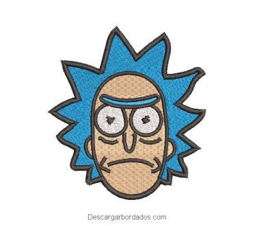 Diseño Bordado Rostro de Rick y Morty