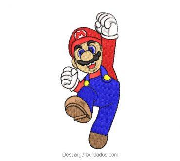 Diseño Bordado Super Mario Bros