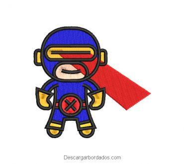 Diseño Bordado Superhéro Animado