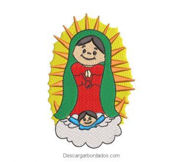 Diseño Bordado Virgen de Guadalupe Infantil