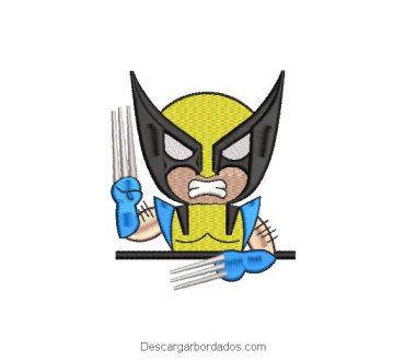 Diseño Bordado X-men Wolverine Animado