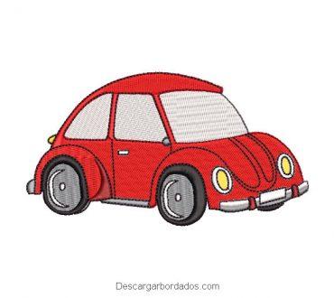 Diseño Bordado de Auto Rojo