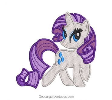 Diseño Bordado de Rarity My Little Pony