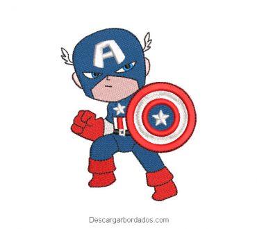 Diseño BordadoSuperhéroe Capitán América Bebé Caricatura