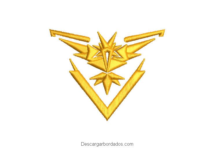 Diseño bordado Ave Legendaria Articuno de Pokémon GO