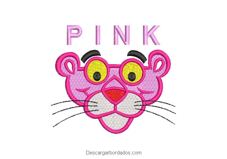 Diseño bordado La Pantera Rosa para Máquina