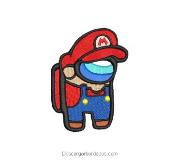 Diseño bordado Mario Bros Among Us