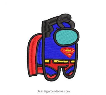 Diseño bordado Superman Superhéroe Among Us