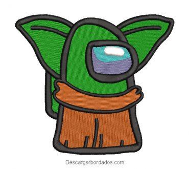 Diseño bordado Yoda Star Wars Bros Among Us