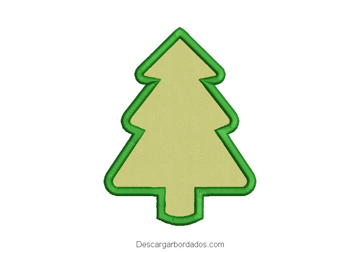 Diseño bordado árbol de navidad con aplicación