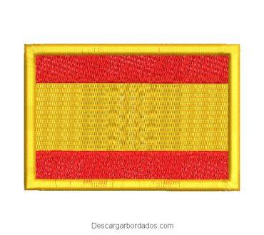 Diseño bordado bandera de españa