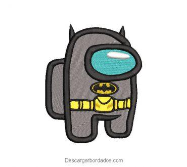 Diseño bordado batman Among Us