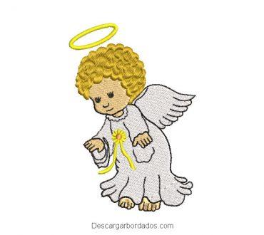 Diseño bordado bebe ángel para máquina