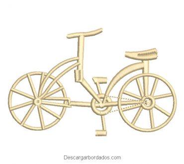 Diseño bordado bicicletas antigua para máquina