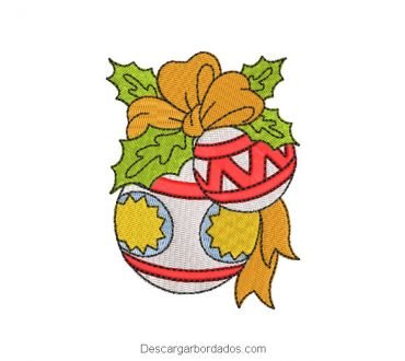 Diseño bordado bola de cristal adorno para navidad