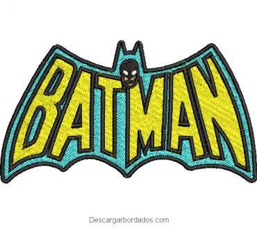 Diseño bordado bonito letra de batman