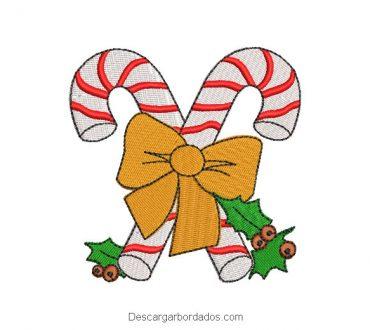 Diseño bordado caramelo de navidad para máquina