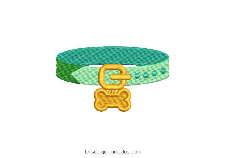 Diseño bordado collar de perro