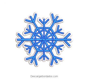 Diseño bordado copo de nieve para navidad