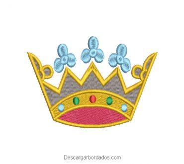 Diseño bordado corona de reina antigua