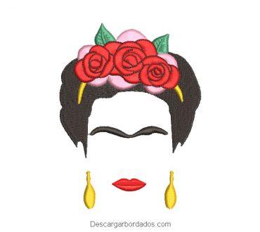 Diseño bordado de Frida Kahlo