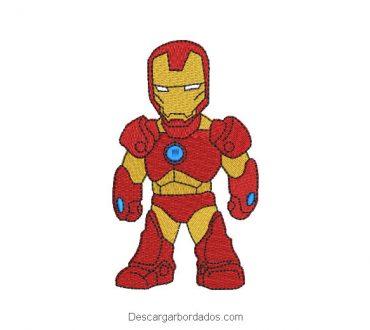Diseño bordado de Iron Man superhéroe