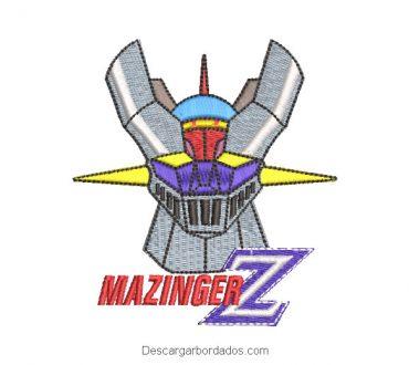 Diseño bordado de Mazinger Z con Letra