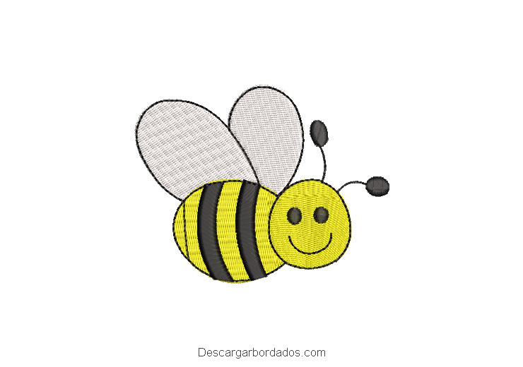 Diseño bordado de abeja para máquina