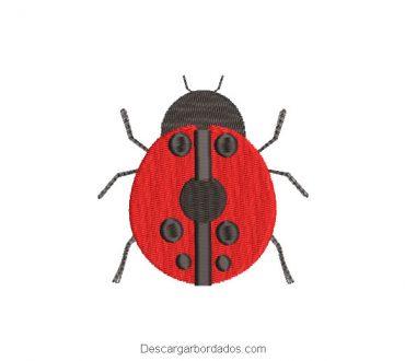 Diseño bordado de abeja roja para máquina