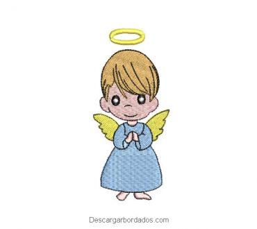 Diseño bordado de bebe angelito para máquina