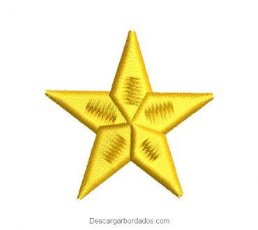 Diseño bordado de mini estrella
