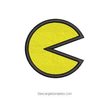 Diseño bordado de pac man