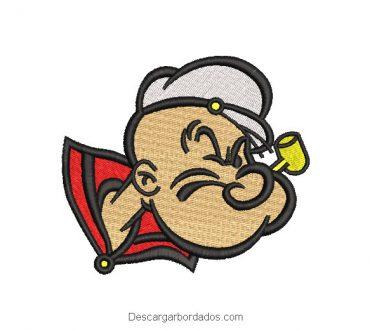 Diseño bordado de popeye el marino