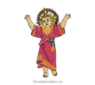 Diseño bordado divino niño jesús